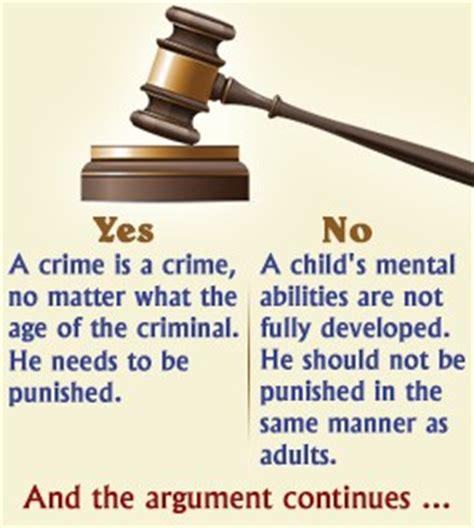 Essay about juvenile crimes